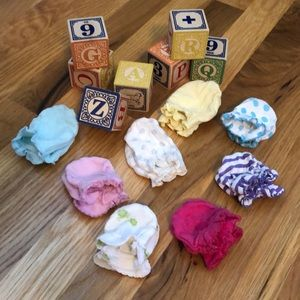Bundle (8 pairs) of Baby No Scratch Mittens